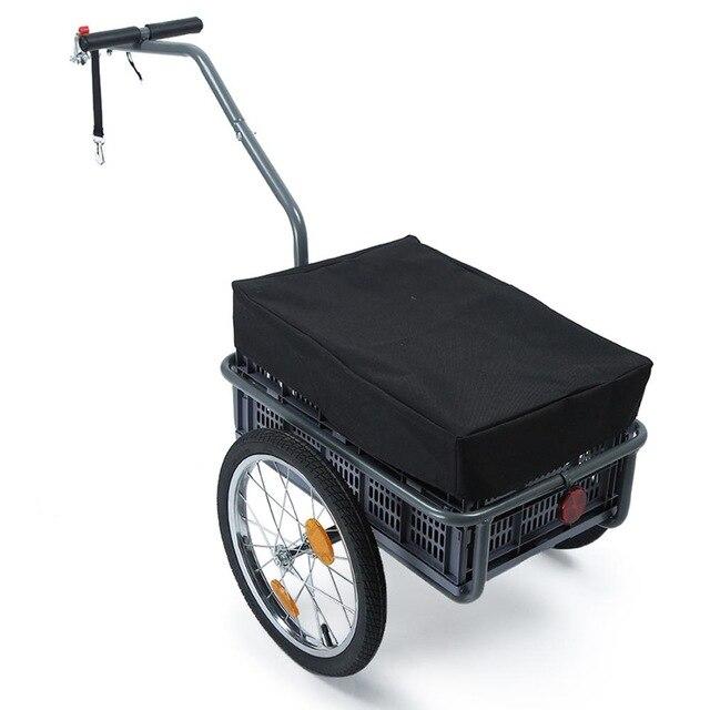 Remolque de bicicleta plegable multifunci n cochecito de beb de gran capacidad Carro de carga